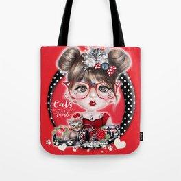 Cat Crazy Chloe - MunchkinZ Elf - Sheena Pike Art & Illustration Tote Bag