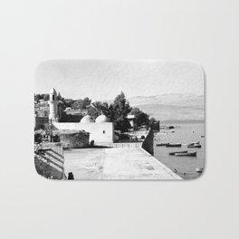 The lakefront at Galilee. Tiberias. 1945 Bath Mat