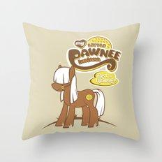 My Little Pawnee Throw Pillow