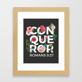 Conqueror- Romans 8:37 Framed Art Print