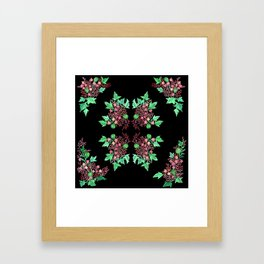Red Coralline Flowers Framed Art Print