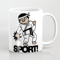 sport Mugs featuring SPORT! by roomo