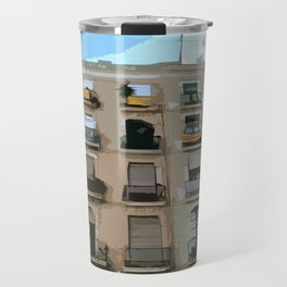 Barcelona Building  Travel Mug