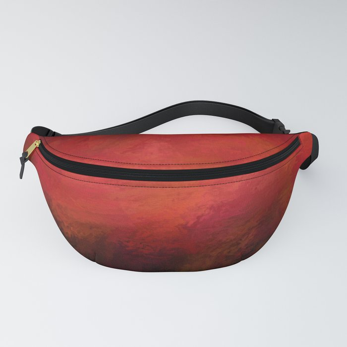 Abstract Red Black Dark Matter Fanny Pack