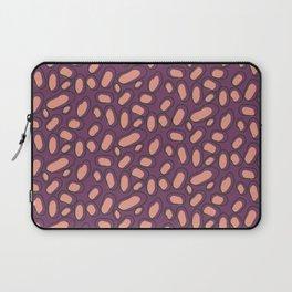 Abstract Orange Spots on Purple Background Laptop Sleeve