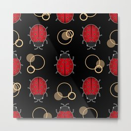 Cheerful ladybugs . Metal Print