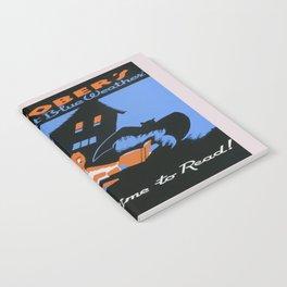 Vintage poster - October's Bright Blue Weather Notebook