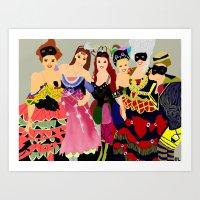 Masquerade Squad  Art Print