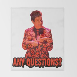 David S. Pumpkins - Any Questions? II Throw Blanket