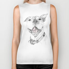 A Smile is Worth a Thousand Words :: A Pit Bull Smile Biker Tank