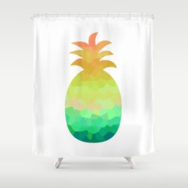 Low poly pineapple Shower Curtain
