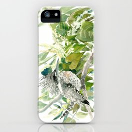 Crested Kingfisher and Japanese Knotweed iPhone Case