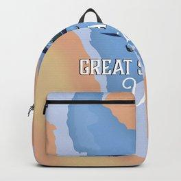 Great Salt Lake Utah map Backpack