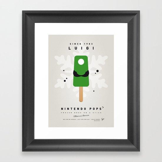 My NINTENDO ICE POP - Luigi Framed Art Print
