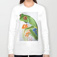 frog Long Sleeve T-shirts featuring Frog by The Traveling Catburys