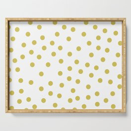 Simply Dots in Mod Yellow on White Serving Tray