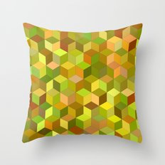 Happy autumn cubes Throw Pillow