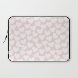 Pink & White - Valentine Love Heart Pattern - Mix & Match with Simplicty of life Laptop Sleeve