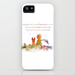 Little Prince Fox iPhone Case