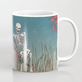 Skeleton Leaning on Grave Coffee Mug