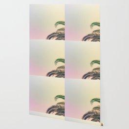 Minimal - Palm tree leafs photography I  Wallpaper