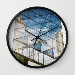 Glass tower Wall Clock