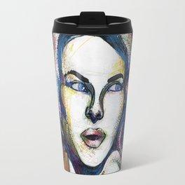Pop Art Woman Travel Mug