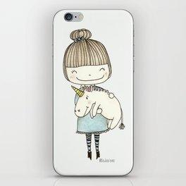 unicorn girl iPhone Skin