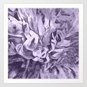 Painted Peony Sepia Lavender by laurenwdesign