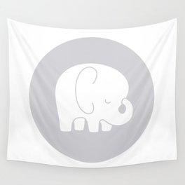 Mod Baby Elephant Grey Wall Tapestry