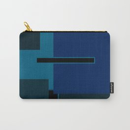 Blue Black Hue Carry-All Pouch