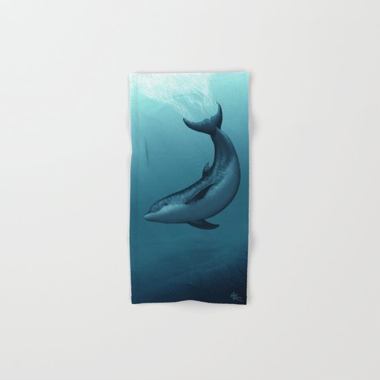 Siren of the Blue Lagoon ~ Dolphin Hand & Bath Towel