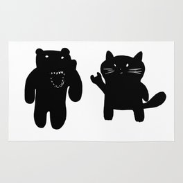 Bear and Cat Rug