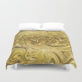 Rich Gold Shimmering Glamorous Luxury Marble Duvet Cover