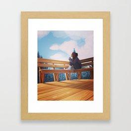 afternoon glow Framed Art Print