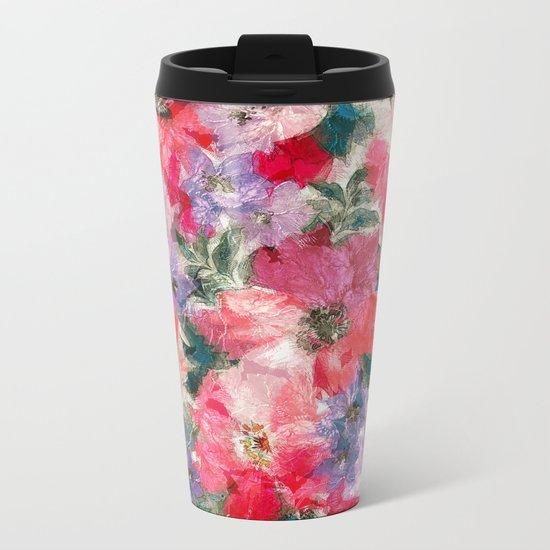 Splendid Flowers 2 Metal Travel Mug