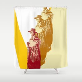 V for Valentino Shower Curtain
