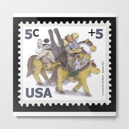 King Washington Stamp Metal Print