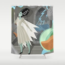 undead bride on secret laboratory Shower Curtain