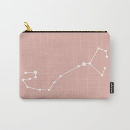 Scorpio Zodiac Constellation - Pink Rose Carry-All Pouch