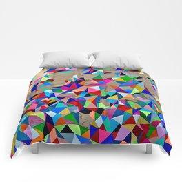 Geometric Rainbow Cluster on Wood Comforters