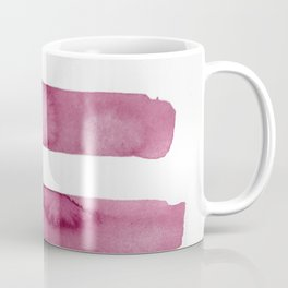 Pink Stripe Abstract Art Coffee Mug