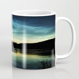 Noctilucent Clouds Over Forest Lake Coffee Mug