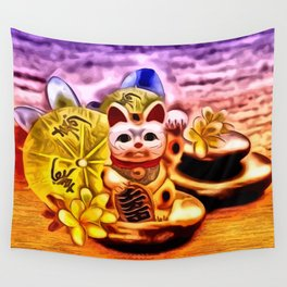 Glückskatze Wall Tapestry