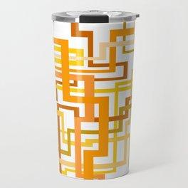 Yellow Lines Travel Mug