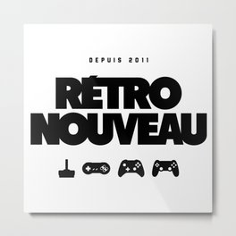 Rétro Nouveau (Noir) Metal Print