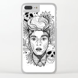 Sincerely, Jane: Suite I Black and White Overture Clear iPhone Case