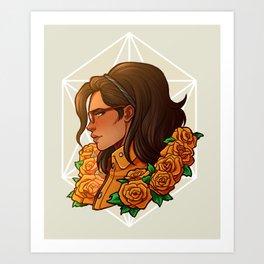 Nico | Orange Rose | DMC5 Art Print
