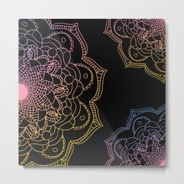 Watercolor mandala, Metal Print