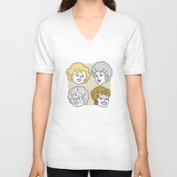 golden girls V-neck T-shirts featuring Thank You for Being a Friend (Golden Girls) by Marcelo Galvao